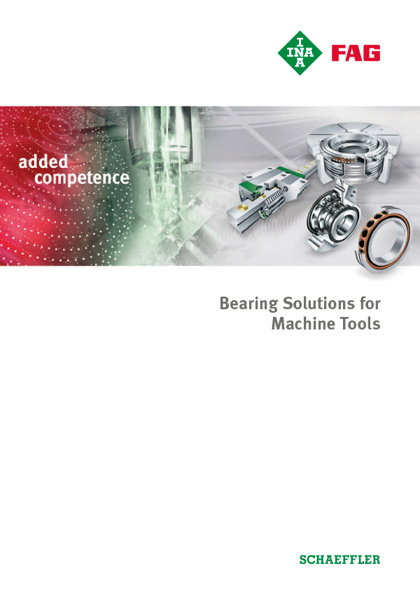 Bearing Solutions for Machine Tools