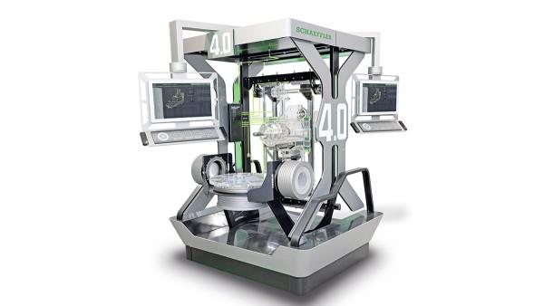 Werkzeugmaschine 4.0 (obrabiarka) tworzy sieć techniki od czujnika do chmury obejmującą nowe podzespoły cyfrowe.