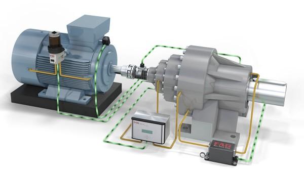 """Demonstrator technologiczny """"Antriebsstrang 4.0"""" (ciąg napędowy) firmy Schaeffler pokazuje rozwiązania dla produkcji cyfrowej i monitoringu maszyn."""