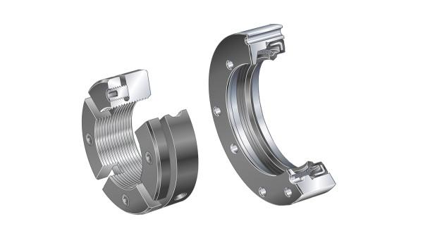 Łożyska toczne i łożyska ślizgowe Schaeffler: Pierścienie uszczelniające / nakrętki rowkowe precyzyjne