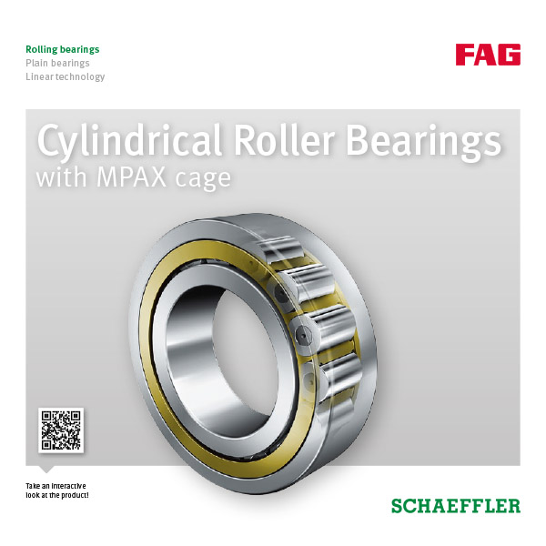 Cylindrical Roller Bearings with MPAX cage