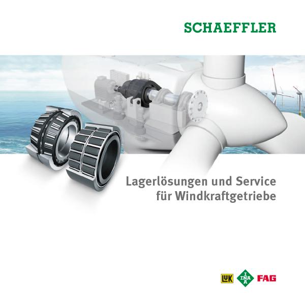 Lagerlösungen und Service für Windkraftgetriebe