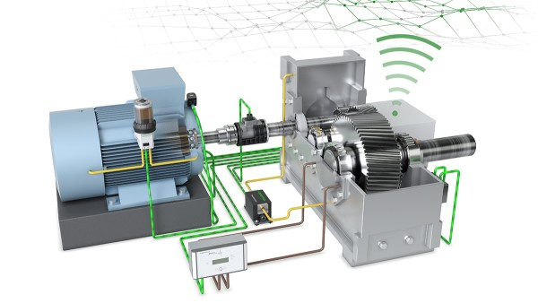 """Schaeffler's """"Drive Train 4.0"""" technology demonstrator shows solutions for digitalized production and machine monitoring."""