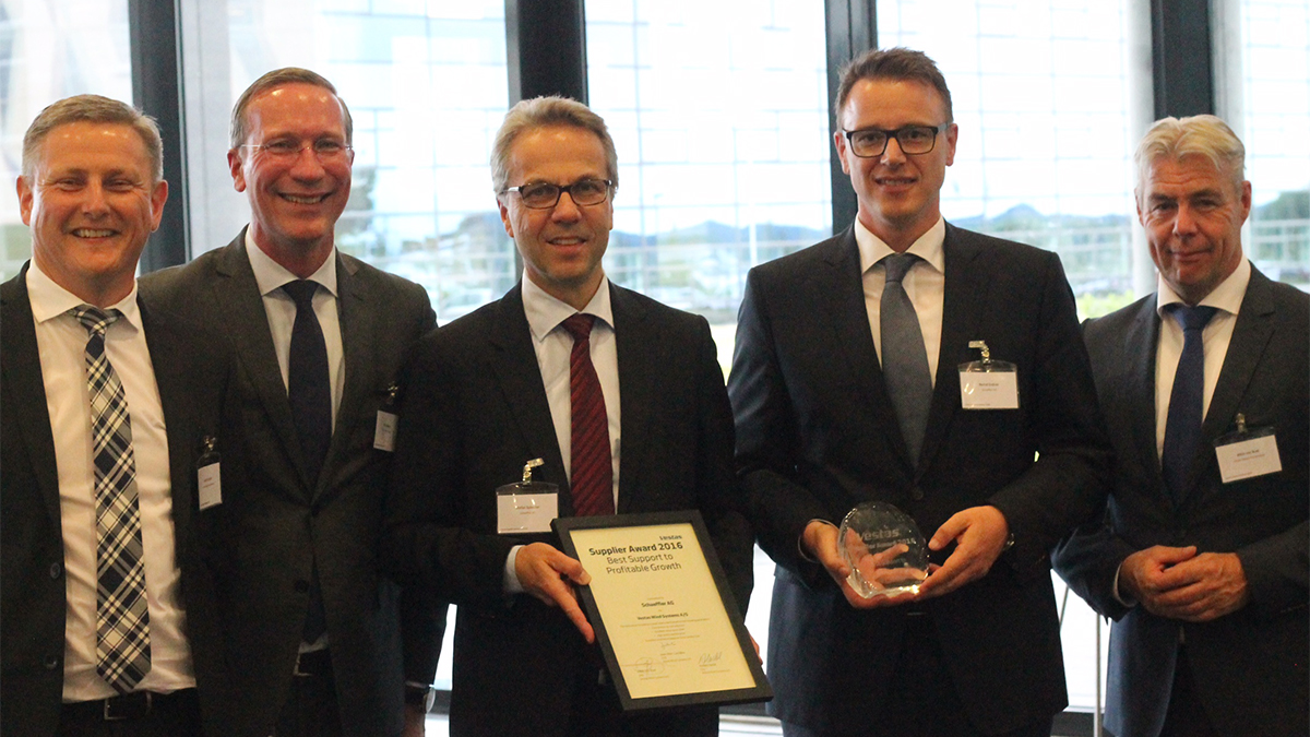 "Schaeffler erhält Award ""Best Support to Profitable Growth"" von Vestas"